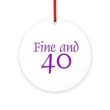40 40th Birthday Men Women Ornament (Round)