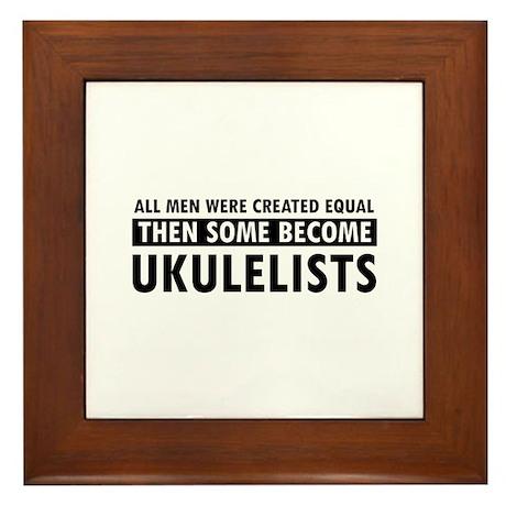 Ukulelists Designs Framed Tile