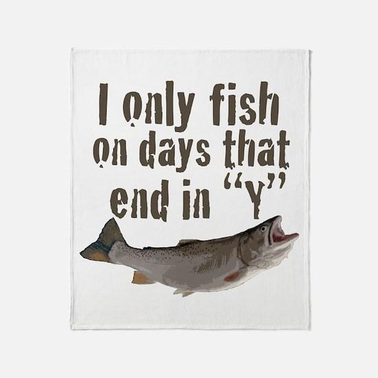 I fish Throw Blanket