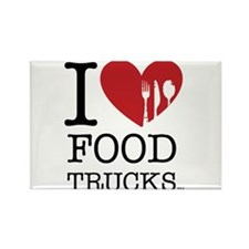 I Love Food Trucks Rectangle Magnet