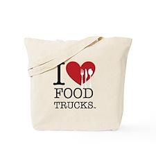 I Love Food Trucks Tote Bag