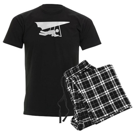 Hang Gliding Men's Dark Pajamas
