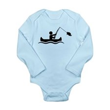 Canoe Fishing Long Sleeve Infant Bodysuit