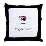 Skull Pirate - Veggie Throw Pillow