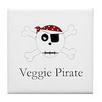 Skull Pirate - Veggie Tile Coaster