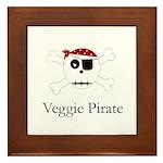 Skull Pirate - Veggie Framed Tile