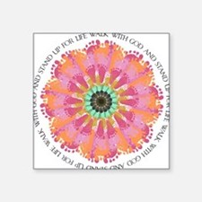 "Footprint Flower.jpg Square Sticker 3"" x 3"""