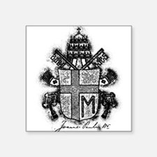 Pope John Paul II Coat of Arms.png Square Sticker