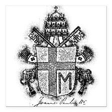 Pope John Paul II Coat of Arms.png Square Car Magn