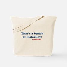 Vintage Joe Biden Malarkey Quote Tote Bag