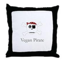 Vegan Pirate - Throw Pillow