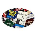 Big Apple Jazz Oval Sticker