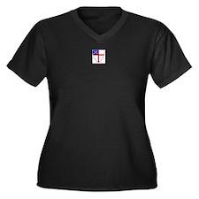 Episcopal Church Women's Plus Size V-Neck Dark T-S