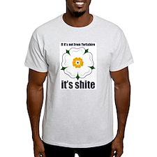 white rose FINAL blue T-Shirt