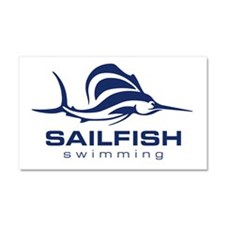 SAILFISHswimming Car Magnet 20 x 12