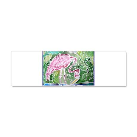 Flamingo! Fun bird art! Car Magnet 10 x 3