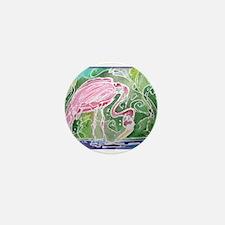 Flamingo! Fun bird art! Mini Button