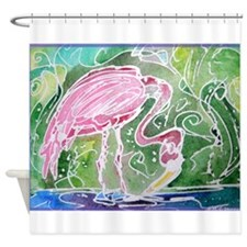 Flamingo! Fun bird art! Shower Curtain