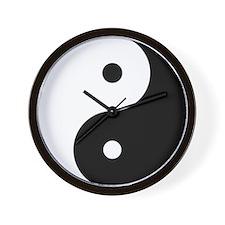 Yin & Yang (Black/White) Wall Clock