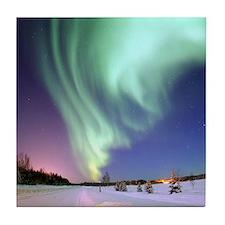Alaska Aurora Tile Coaster