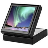 Aurora borealis Square Keepsake Boxes