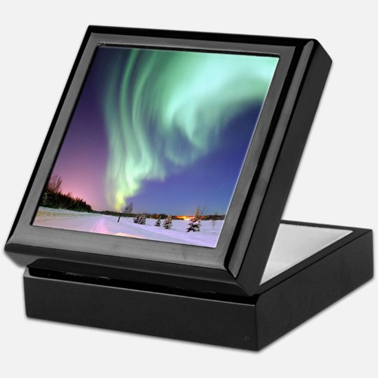 Alaska Aurora Keepsake Box