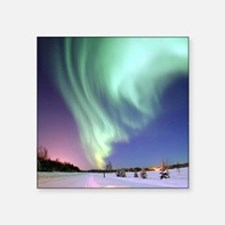 "Alaska Aurora Square Sticker 3"" x 3"""