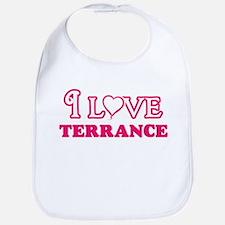 I Love Terrance Baby Bib