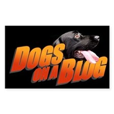 Dogs on a Blog Rectangle Decal