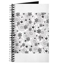 Black and White Floral Pattern Journal