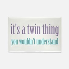 Twin Thing 2 Rectangle Magnet