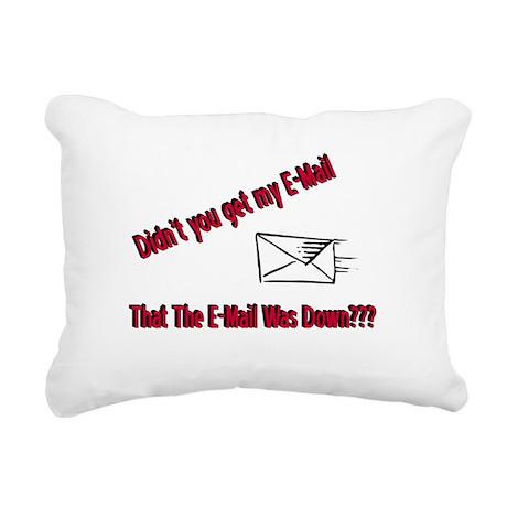 Email Down Rectangular Canvas Pillow