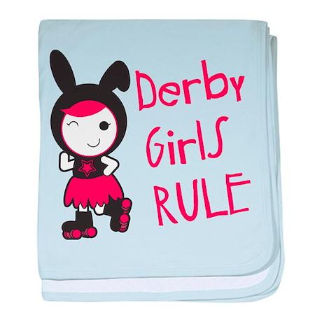 Roller Derby - Derby Girls Rule baby blanket
