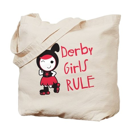 Roller Derby - Derby Girls Rule Tote Bag
