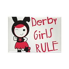 Roller Derby - Derby Girls Rule Rectangle Magnet