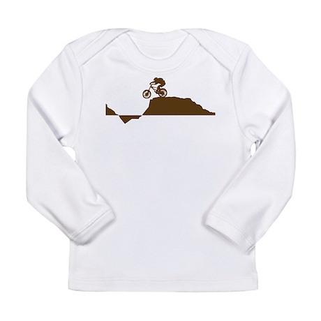 Mountain Bike Long Sleeve Infant T-Shirt