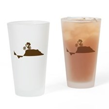 Mountain Bike Drinking Glass