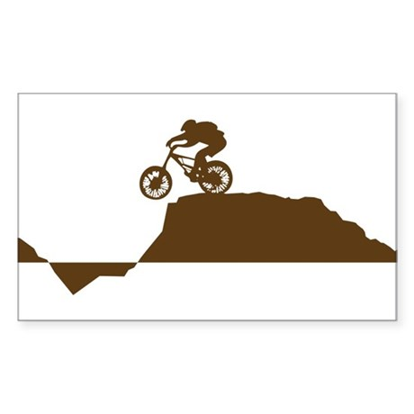 Mountain Bike Sticker (Rectangle)