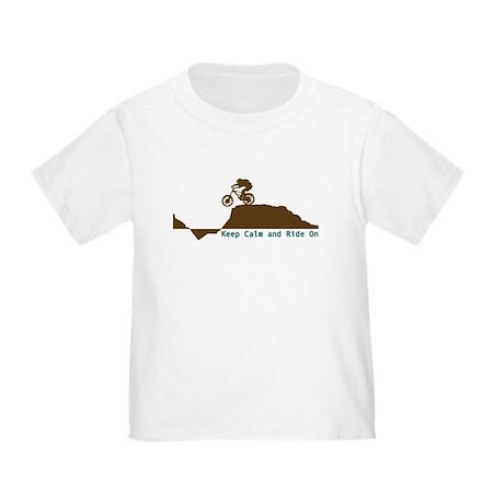 Mountain Bike - Keep Calm Toddler T-Shirt