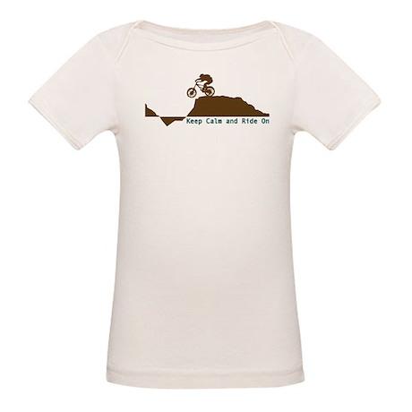 Mountain Bike - Keep Calm Organic Baby T-Shirt