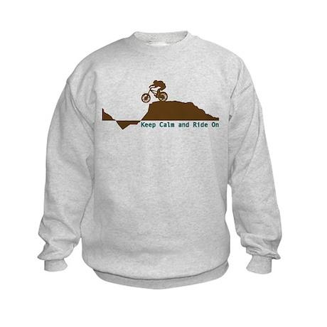 Mountain Bike - Keep Calm Kids Sweatshirt