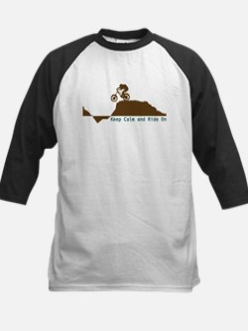 Mountain Bike - Keep Calm Kids Baseball Jersey