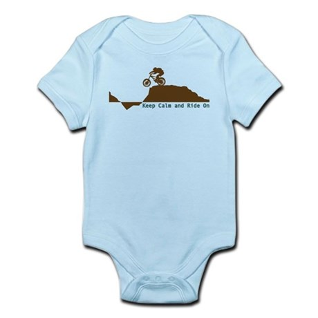 Mountain Bike - Keep Calm Infant Bodysuit