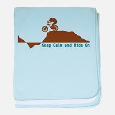 Mountain Bike - Keep Calm baby blanket