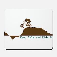 Mountain Bike - Keep Calm Mousepad