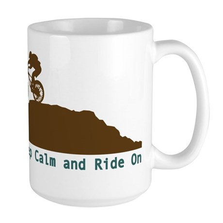 Mountain Bike - Keep Calm Large Mug