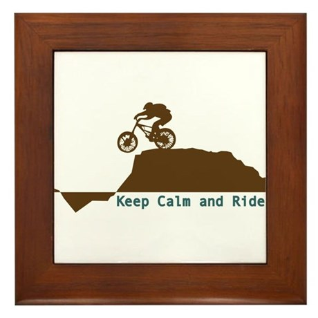 Mountain Bike - Keep Calm Framed Tile