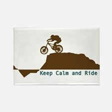 Mountain Bike - Keep Calm Rectangle Magnet