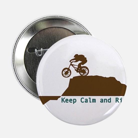 "Mountain Bike - Keep Calm 2.25"" Button"