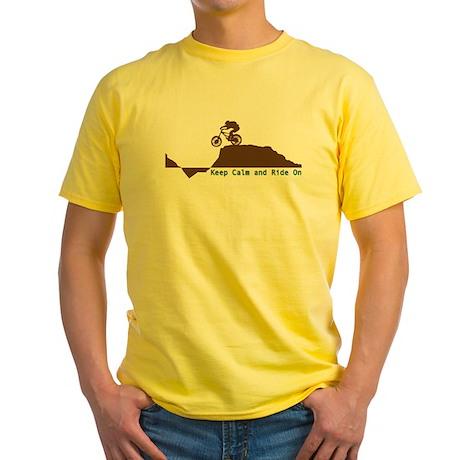 Mountain Bike - Keep Calm Yellow T-Shirt